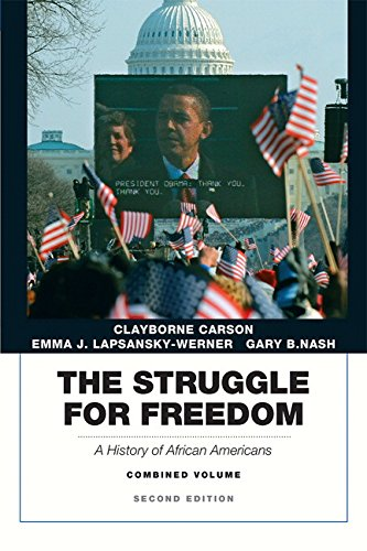 Struggle freedom history by carson 2nd edition direct textbook.