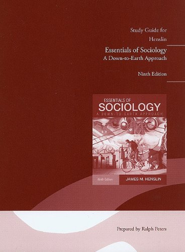 9780205834860: Study Guide for Essentials of Sociology, A Down-To-Earth Approach