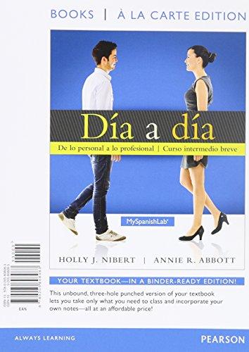 9780205838714: Día a día, Books a la Carte Plus MyLab Spanish with eText -- Access Card Package