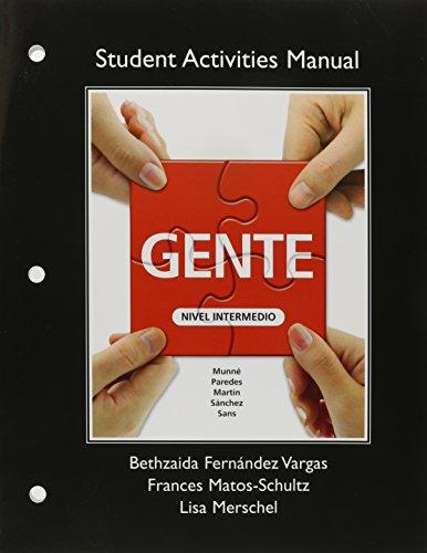 9780205839469: Student Activities Manual for Gente: Nivel intermedio