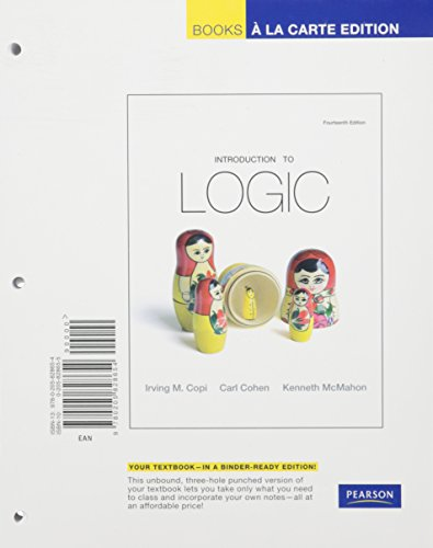 9780205841998: Introduction to Logic, Books a la Carte Plus MyLogicLab -- Acess Card Package (14th Edition)