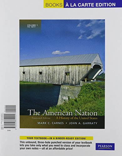 9780205842001: The American Nation: A History of the United States, Volume 1, Books a la Carte Edition (14th Edition)