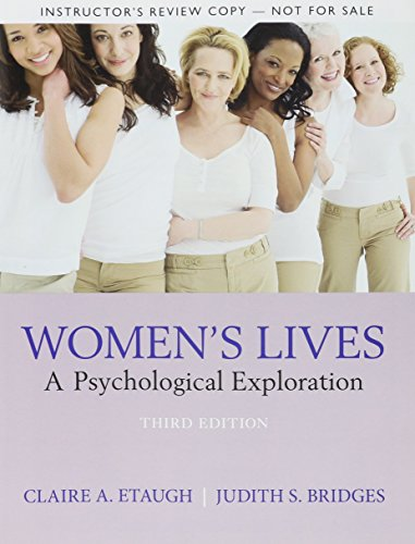 9780205846085: Women's Lives: A Psychological Exploration, Instructor's Review Copy