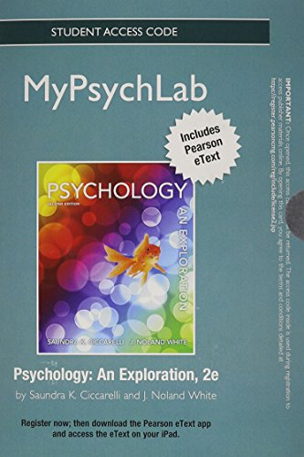 9780205846986: New Mypsychlab with Pearson Etext -- Standalone Access Card -- For Psychology: An Exploration