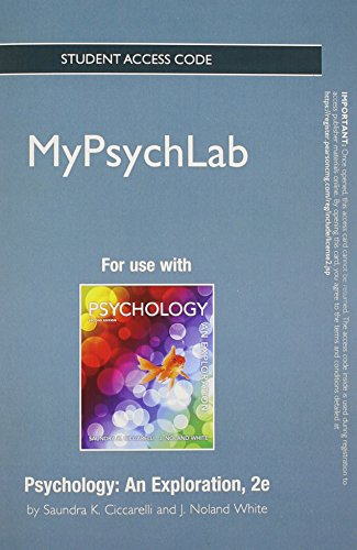 9780205846993: NEW MyPsychLab without Pearson eText -- Standalone Access Card -- for Psychology: An Exploration (2nd Edition)