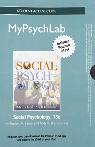 9780205847006: NEW MyPsychLab with Pearson eText -- Standalone Access Card -- for Social Psychology (13th Edition)