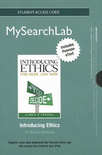 MySearchLab with Pearson eText -- Standalone Access: Sterba, James P.