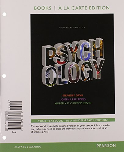 9780205848560: Psychology, Books a la Carte Plus NEW MyPsychLab with eText -- Access Card Package (7th Edition)