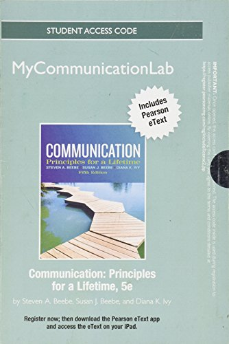 9780205850686: NEW MyCommunicationLab with Pearson eText -- Standalone Access Card -- for Communication (5th Edition)