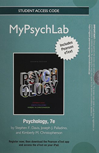 9780205853090: NEW MyLab Psychology with Pearson eText -- Standalone Access Card -- for Psychology (7th Edition)
