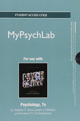 9780205853106: NEW MyLab Psychology without Pearson eText -- Standalone Access Card -- for Psychology (7th Edition)