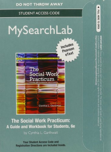 9780205853120: MySearchLab with Pearson eText -- Standalone Access Card -- for The Social Work Practicum: A Guide and Workbook for Students (6th Edition)
