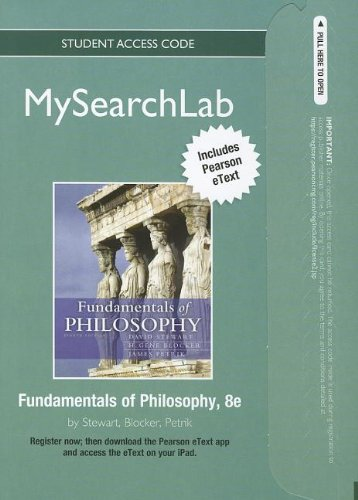 9780205853373: MySearchLab with Pearson eText -- Standalone Access Card -- for Fundamentals of Philosophy (8th Edition) (MySearchLab (Access Codes))