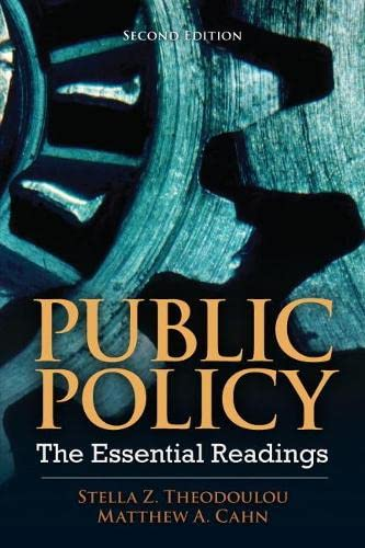 9780205856336: Public Policy: The Essential Readings