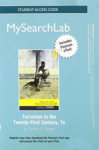 9780205856718: MySearchLab with Pearson eText -- Standalone Access card -- for Terrorism in the 21st Century