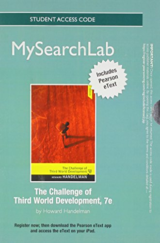 9780205857012: MySearchLab with Pearson eText -- Standalone Access Card -- for The Challenge of Third World Development (7th Edition)