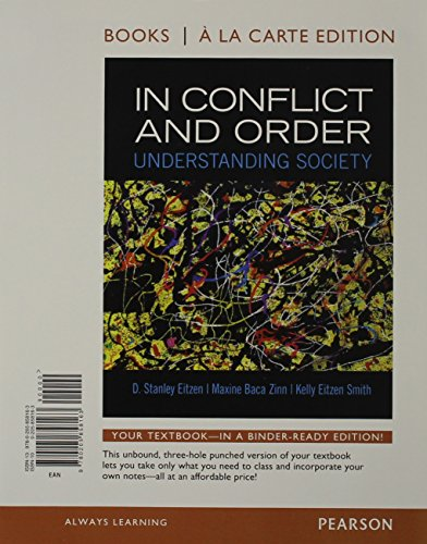 9780205858163: In Conflict and Order: Understanding Society, Books a la Carte Edition (13th Edition)