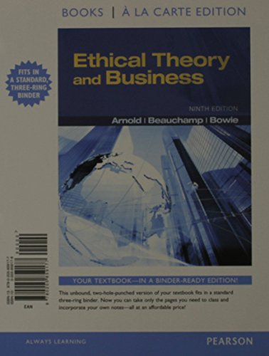 9780205859184: Ethical Theory and Business, Books a la Carte Plus MySearchLab with eText -- Access Card Package (9th Edition)