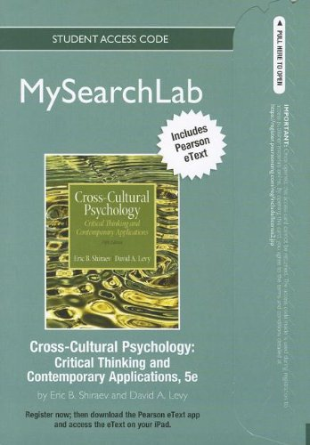 9780205859771: MySearchLab with Pearson eText -- Standalone Access Card -- for Cross-Cultural Psychology: Critical Thinking and Contemporary Applications (5th Edition)