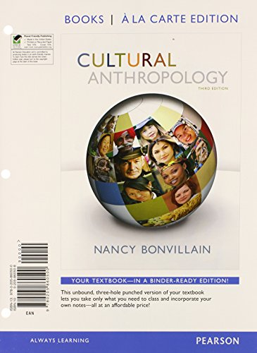 9780205860500: Cultural Anthropology, Books a la Carte Edition (3rd Edition)