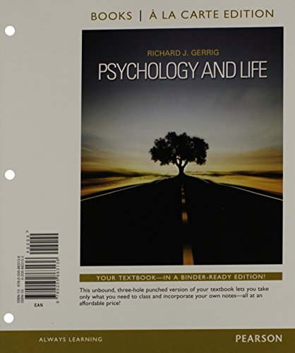 9780205863143: Psychology and Life, Books a la Carte Plus NEW MyPsychLab with eText -- Access Card Package: (20th Edition)