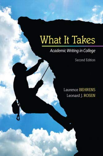 9780205864843: What it Takes: Academic Writing in College (2nd Edition)