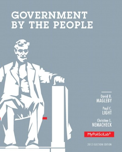 9780205865789: Government by the People: 2012 Election Edition