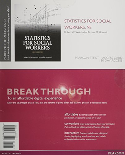 9780205867240: Statistics for Social Workers, Enhanced Pearson eText -- Access Card (9th Edition)