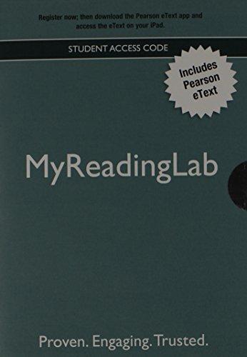9780205869169: New Myreadinglab with Pearson Etext - Valuepack Access Card
