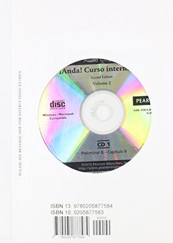 9780205877584: Text Audio for Anda! Curso intermedio, Volume 2