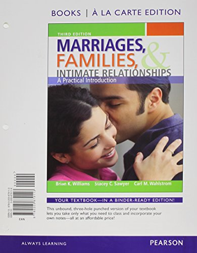 9780205879113: Marriages, Families, and Intimate Relationships, Books a la Carte Edition (3rd Edition)