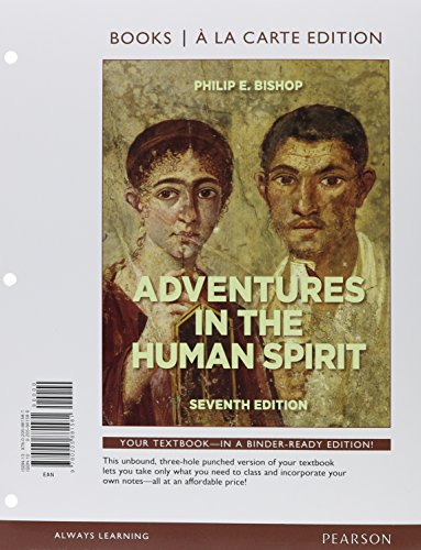 9780205881581: Adventures in the Human Spirit, Books a la Carte Edition