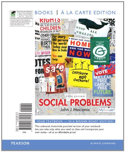 9780205881703: Social Problems, Books a la Carte Edition (5th Edition)