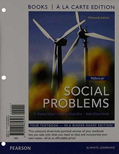 9780205882397: Social Problems, Books a la Carte Edition (13th Edition)