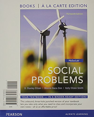 9780205882434: Social Problems, Books a la Carte Plus NEW MySocLab with eText -- Access Card Package (13th Edition)