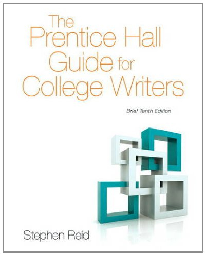 9780205883059: The Prentice Hall Guide for College Writers: Brief Edition (10th Edition)
