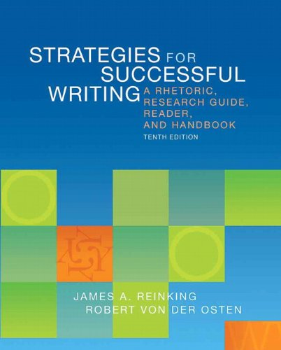 9780205883110: Strategies for Successful Writing: A Rhetoric, Research Guide, Reader, and Handbook (10th Edition)