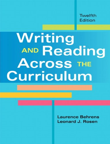 9780205885435: Writing and Reading Across the Curriculum (12th Edition)