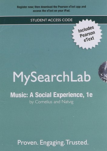 9780205887163: MySearchLab with Pearson eText -- Valuepack Access Card -- for Music: A Social Experience