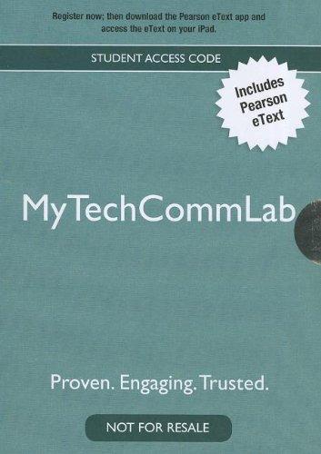 9780205890408: Mytechcommlab: Student Access Code