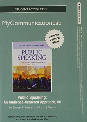 9780205890606: NEW MyCommunicationLab with Pearson eText -- Standalone Access Card -- for Public Speaking: An Audience-Centered Approach (8th Edition)