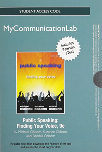 9780205890736: NEW MyCommunicationLab with Pearson eText -- Standalone Access Card -- for Public Speaking: Finding Your Voice (9th Edition)