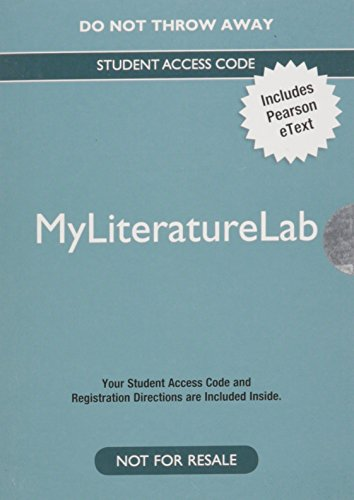 9780205891283: MyLiteratureLab with the Literature Collection: An Etext -- Valuepack Access Card