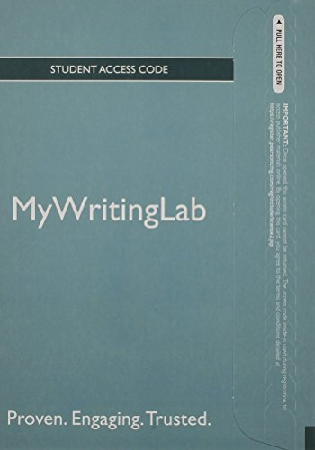 9780205891450: NEW MyWritingLab Generic without Pearson eText -- Standalone Access Card