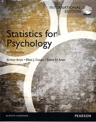 9780205895342: Statistics for Psychology:International Edition