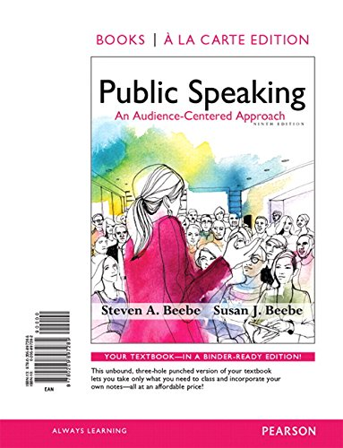 9780205897285: Public Speaking: An Audience-Centered Approach, Books a la Carte Edition (9th Edition)