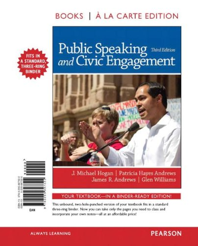 9780205897322: Public Speaking and Civic Engagement, Books a la Carte Edition (3rd Edition)
