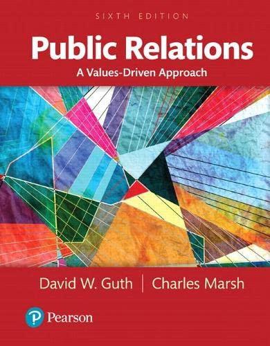 9780205897766: Public Relations: A Values-Driven Approach, Books a la Carte (6th Edition)