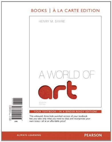 9780205898879: A World of Art, Books a la Carte Edition (7th Edition)
