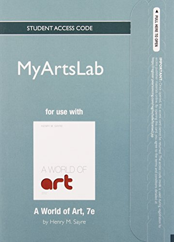 9780205899050: NEW MyArtsLab without Pearson eText -- Standalone Access Card -- for A World of Art (7th Edition)